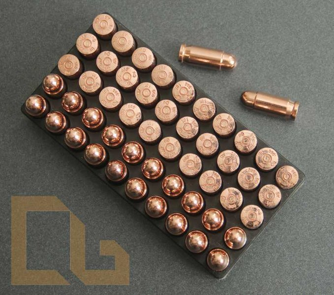 50 x PATRONE Cal .45 PISTOLE ACP - 1 Oz. Copper Bullet in Box