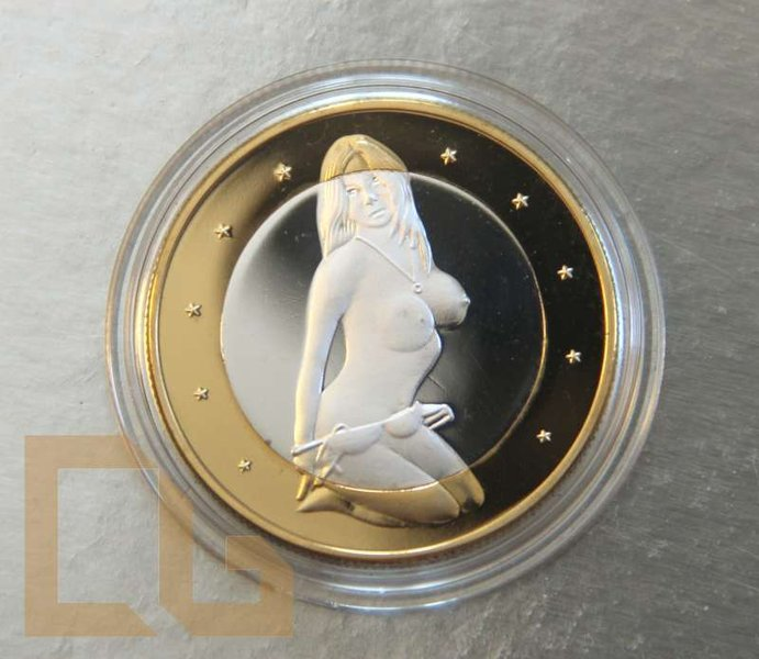 SEX EURO - KAMASUTRA Münze in SILBER & GOLD - # 3