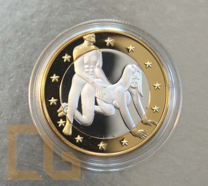 SEX EURO - KAMASUTRA Münze in SILBER & GOLD - # 4