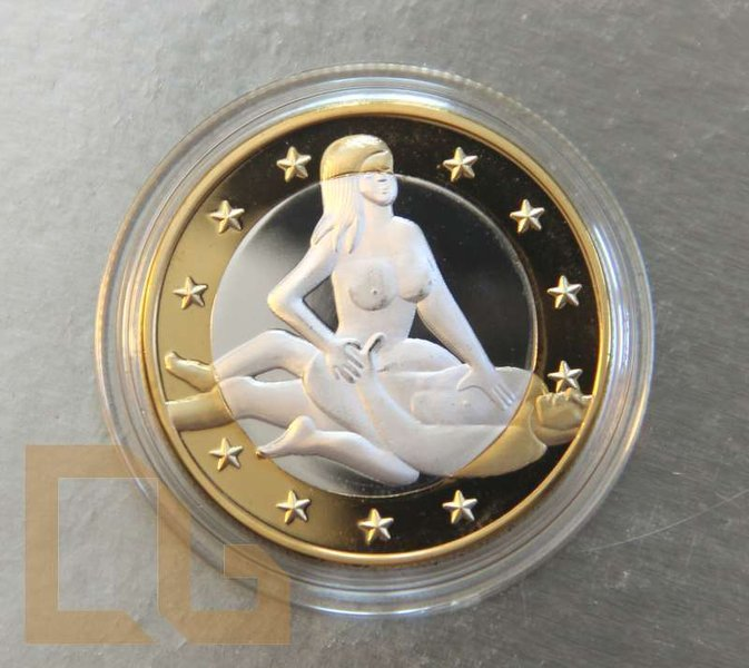 SEX EURO - KAMASUTRA Münze in SILBER & GOLD - # 7
