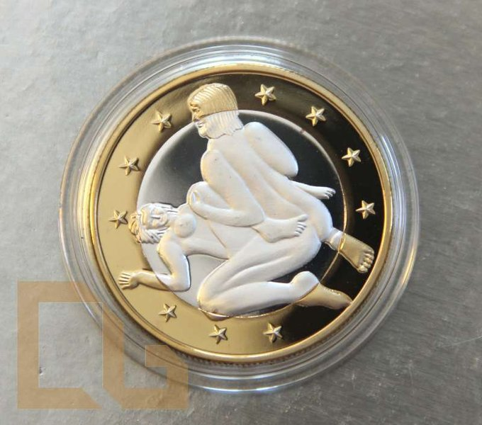 SEX EURO - KAMASUTRA Münze in SILBER & GOLD - # 8