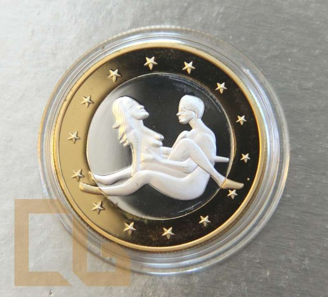 SEX EURO - KAMASUTRA Münze in SILBER & GOLD - # 9