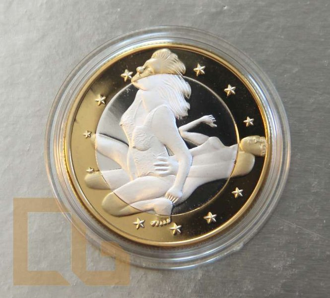 SEX EURO - KAMASUTRA Münze in SILBER & GOLD - # 11