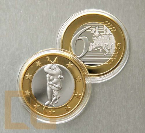 SEX EURO - KAMASUTRA Münze in SILBER & GOLD - # 21 - Copperbuy