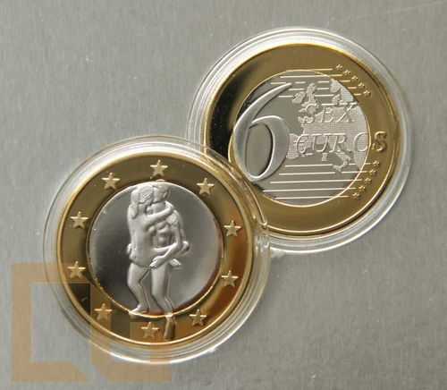 SEX EURO - KAMASUTRA Münze in SILBER & GOLD - # 31 - Copperbuy